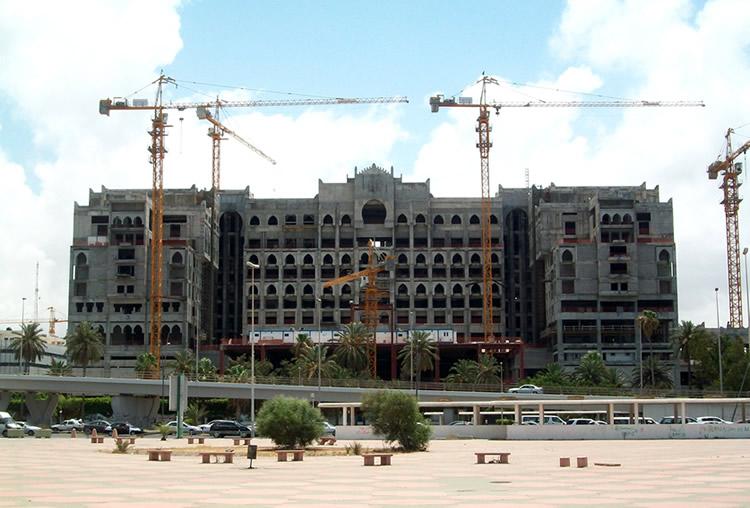 Hôtel en construction au Maroc