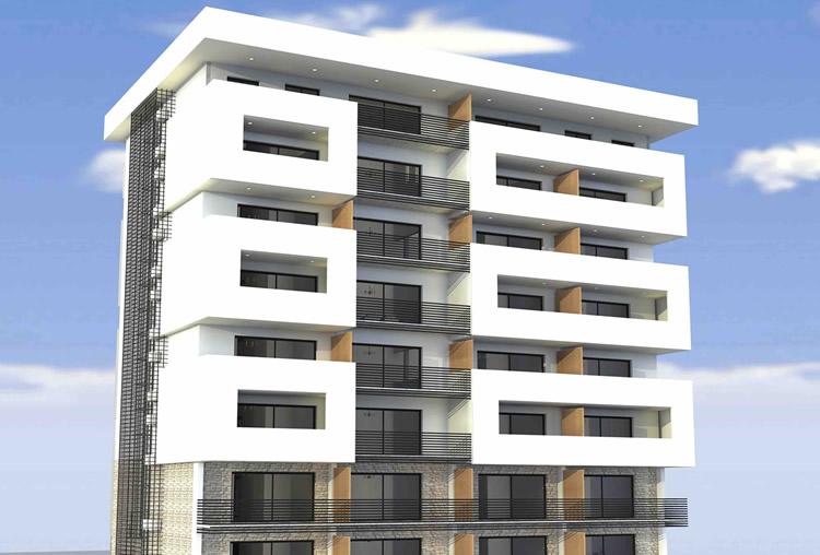 Image d'un immeuble en construction à Fes